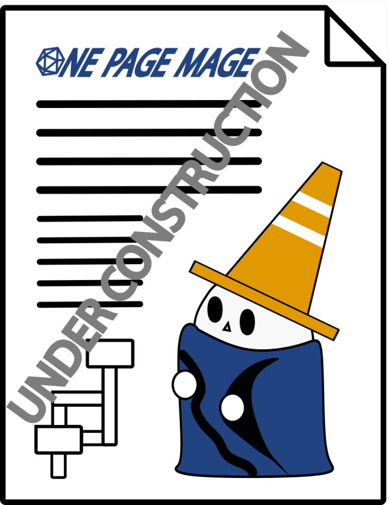 One Page Construction Mage