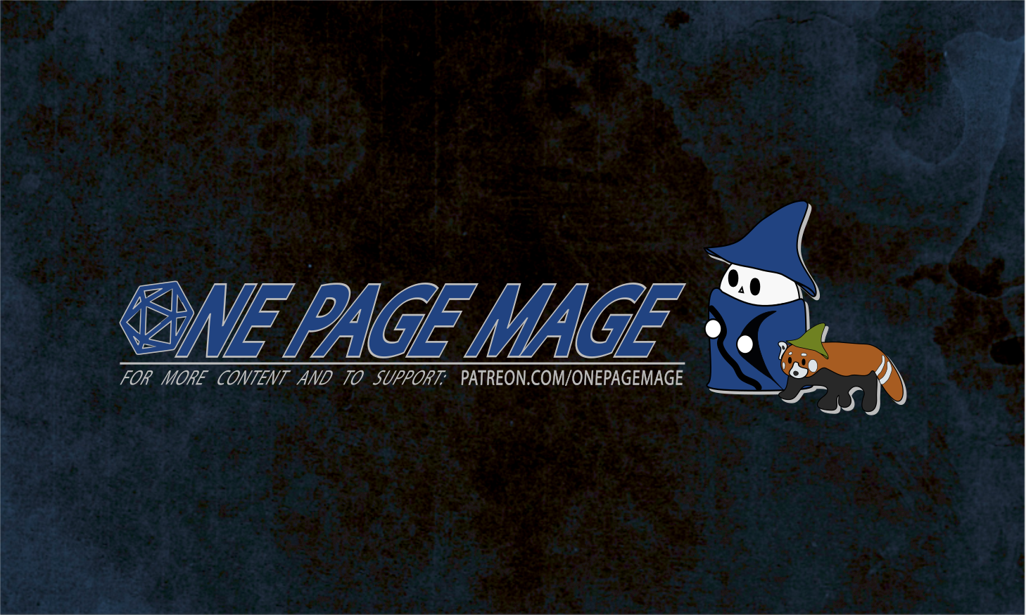 One Page Mage