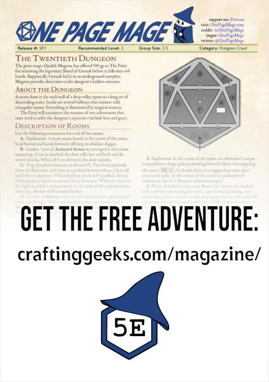 Preview of adventure SP-1 The Twentieth Dungeon